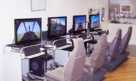 60 Minutes on a Flight Simulator for Two or Four or Party Package at The Wright Stuff (Up to 53% Off)