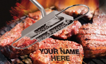 BBQ Customization Branding Iron with Removable Letters