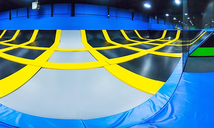 Bounce! Trampoline Sports - Bounce! Syosset: Two Hours of Jump Time for Two or Four at Bounce! Trampoline Sports (Up to 49% Off)
