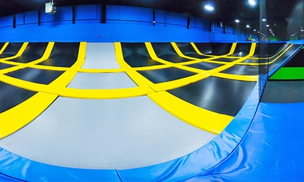 Two Hours of Jump Time at Bounce! Trampoline Sports (Up to 42% Off). Four Options Available.