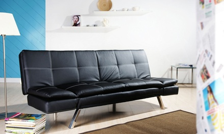 banquette clic clac en simili cuir groupon. Black Bedroom Furniture Sets. Home Design Ideas
