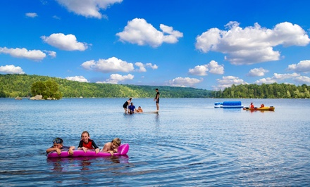 groupon daily deal - 3- or 7-Night Stay in a Tent or RV Campsite or Cabin with Canoe Rentals at Patten Pond RV Resort in Ellsworth, ME