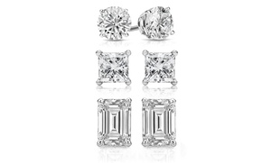 $5 Off – 3-pair Crystal Stud Earring Set Made With Swarovski Elements