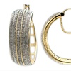 2.00 CTTW Genuine Diamond Hoop Earrings