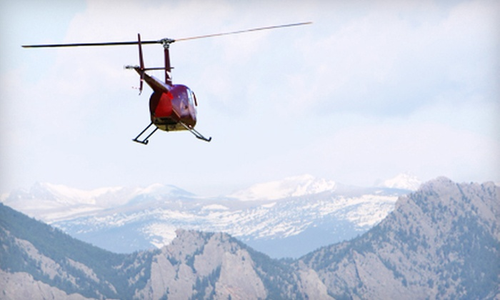 Colorado Heli Ops - Broomfield: Helicopter-Tour Package from Colorado Heli Ops in Broomfield (Up to 72% Off). Two Options Available.