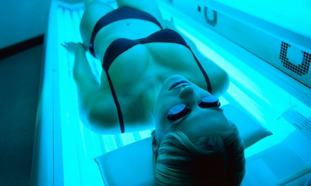 5 or 10 Spray Tans or Tanning-Bed Sessions at Premier Tanning Salon (Up to 53% Off)