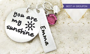 "JC Jewelry Design: One ""You Are My Sunshine"" Necklace with Optional Personalized Charm from JC Jewelry Design (50% Off)"