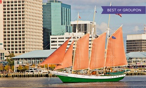 "American Rover: Two-Hour Harbor or Sunset Cruise for Two from ""American Rover"" (Up to 50% Off)"
