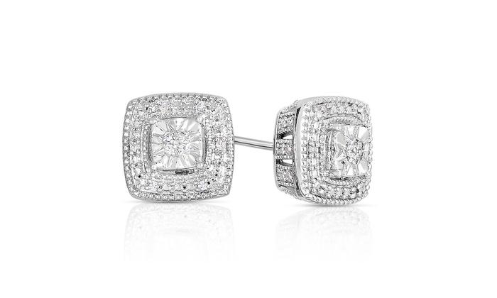 1 10 Cttw Diamond Stud Earrings Groupon Goods