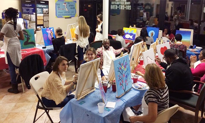 The Artistic Giraffe - Hackensack: Painting Party at The Artistic Giraffe (Up to 50% Off). Three Options Available.