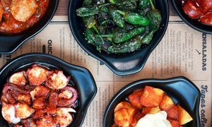 Mas Q Menos: Authentic Spanish Tapas with Pan Catalana and Wine for Up to Four at Mas Q Menos