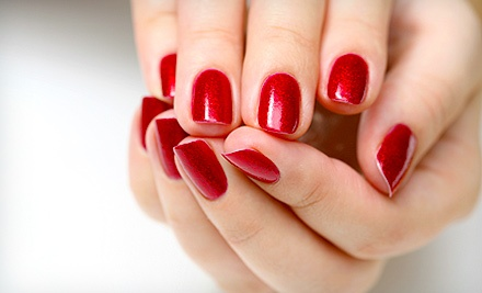 Shellac Manicure with Optional Deluxe Pedicure at Diamond Nail Boutique (Up to 57% Off)