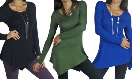 Free To Live Asymmetrical Hem Tunic