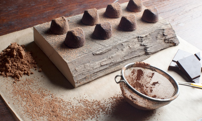 Five Star Truffles - Panhandle: Four Chocolate Truffles with Purchase of 40 Piece Chocolate Truffle Assortment  at Five Star Truffles