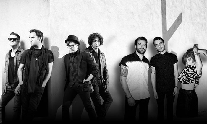Monumentour: Fall Out Boy and Paramore - Farm Bureau Live at Virginia Beach: $20 to See Monumentour: Fall Out Boy and Paramore at Farm Bureau Live at Virginia Beach on July 29 (Up to $33 Value)