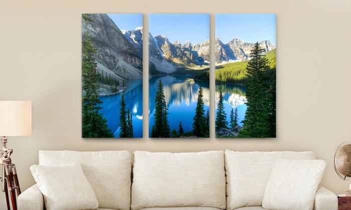 "Custom Triptych PhotoSplit Prints: Custom Triptych PhotoSplit Print from Canvas On Demand in 36""x24"" or 45""x30""; from $59.99—$79.99. Free Shipping."