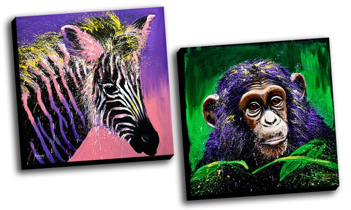 Splash Animals Gallery-Wrapped Canvas Prints: Splash Animals Gallery-Wrapped Canvas Print. Multiple Prints Available. Free Returns.