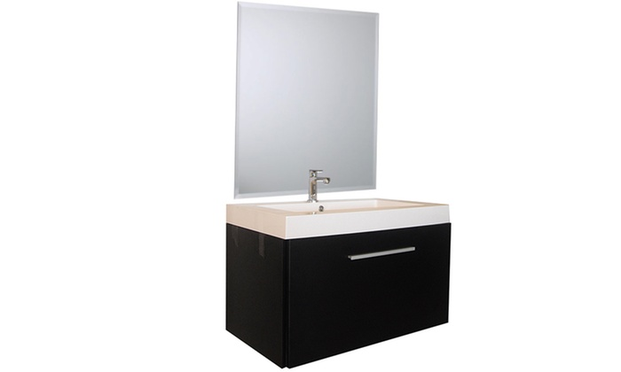 Mobile bagno con specchio groupon goods