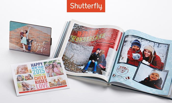 Shutterfly: 50% Off Custom Photo Products from Shutterfly. Three Options Available.