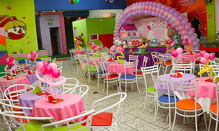 Alegria e Cia Buffet - Osasco: Alegria e Cia Buffet – Osasco: festa infantil ou teen para 50 ou 70 pessoas, a partir de 12x sem juros de R$ 83,33
