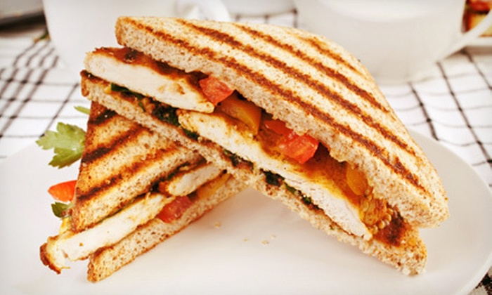 Simply Sweet on Main - Georgetown South: $15 for Five Café Drinks or Sandwiches at Simply Sweet on Main in Manassas (Up to $32.50 Value)
