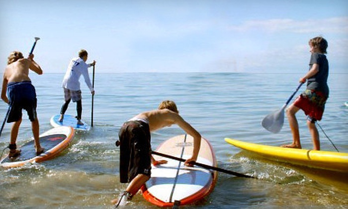 MACkite - Grand Haven: SUP Lesson for One, SUP Rental for One or Two, or Kiteboarding Lesson for One at MACkite (Up to 55% Off)