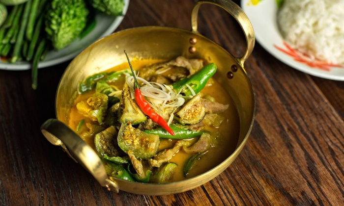 Qi Thai Grill - Greenpoint: Thai Dinner for Two, Valid Weekdays or Any Day at Qi Thai Grill (Up to 54% Off)