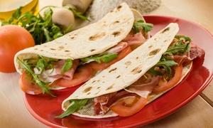 Panpanini: Włoski przysmak: 1 piadina za 9,99 zł i więcej opcji w barze Panpanini (do -37%)