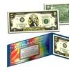 Gold Hologram U.S. 1 or 2 Dollar Bill Art