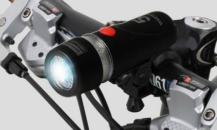 Ultra Bright Waterproof Bike Head Light Set with 5 LED Bike Headlight and 9 LED Rear Flashlight