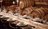 CLOSED Tabella at Clear Creek Winery - Kemah: Dessert Tasting for 4, or 4-Course Dinner for 6 or 12 with Winery Tour at Tabella at Clear Creek Winery (Up to 52% Off)