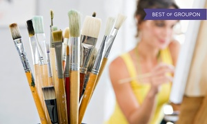 For the Love of Art: BYOB Painting Class for 1, 2, or 4, or Private Painting Party for Up to 10 People (Up to 64% Off)