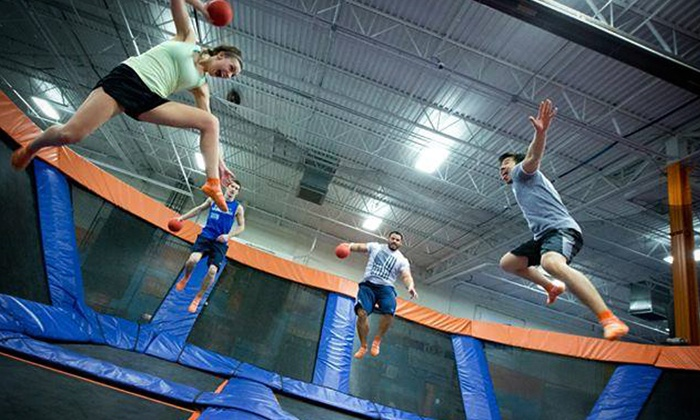 Sky Zone - Michigan - Multiple Locations: $15 for Two 60-Minute Trampoline Passes at Sky Zone - Michigan ($28 Value)