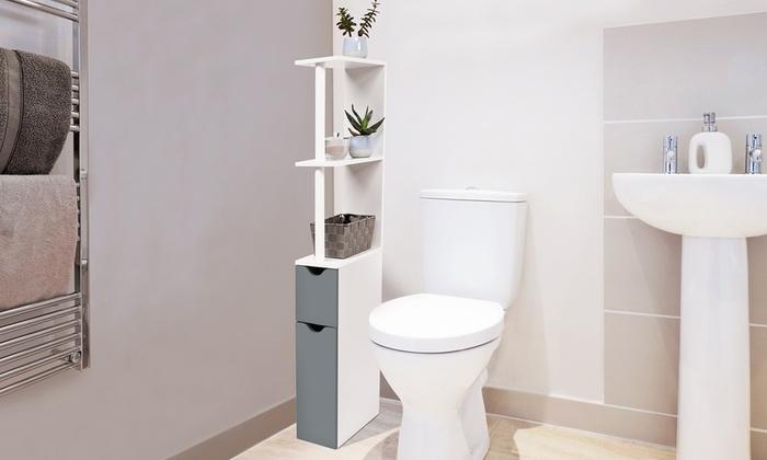 Meuble de rangement toilettes compact | Groupon