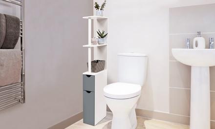 Meuble de rangement de toilettes ou salle de bains, hauteur 118 cm