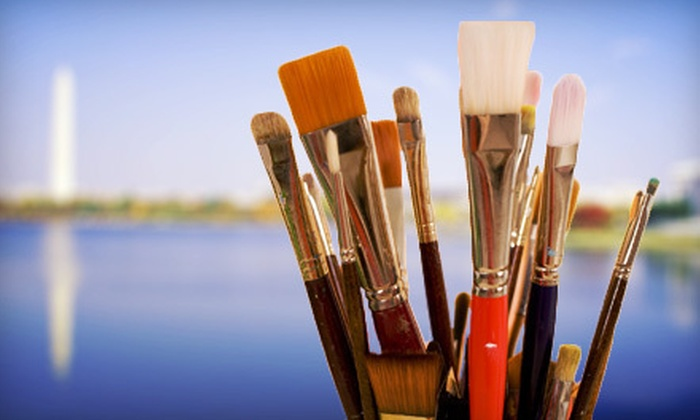UnWined Art - Lorton: Painting Class on Sunset Boat Cruise for 1 or 2, or Whole-Boat Rental for Up to 20 from UnWined Art (Up to 72% Off)