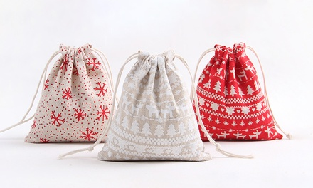 .95 for Custom 3Piece Christmas String Bags in various sizes