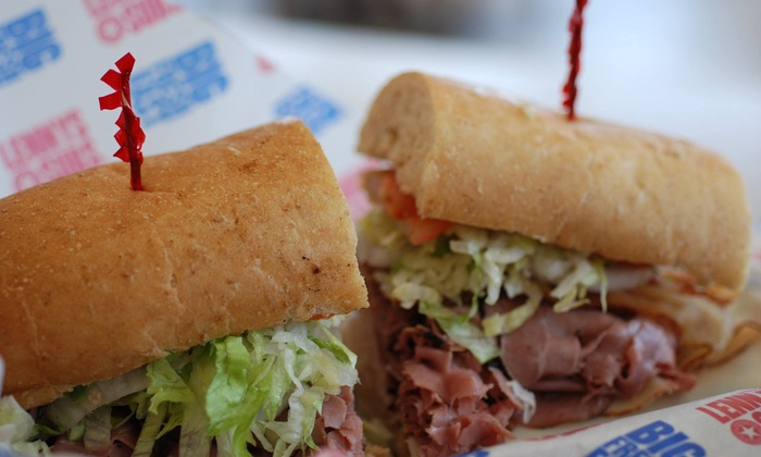 Lenny's Sub Shop- South Charlotte - Olde Whitehall: $15 for Three Groupons, Each Good for $10 Worth of Sandwiches at Lenny's Sub Shop ($30 Total Value)