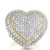 1.00 CTTW Diamond Heart Ring