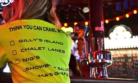 Pub Crawl Package for 4, 6, 10, or 20 to Madison Pub Crawl (Up to 67% Off)