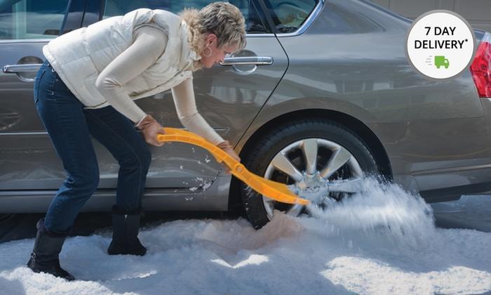 True Temper Autoboss Snow Shovel and Traction Aid Combo Kit: True Temper Autoboss Snow Shovel and Traction Aid Combo Kit