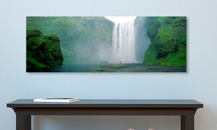 """16""""x48"""" Waterfall Photo Print on Gallery-Wrapped Canvas: 16""""x48"""" Waterfall Photo Print on Gallery-Wrapped Canvas. Multiple Options Available. Free Shipping and Returns."""