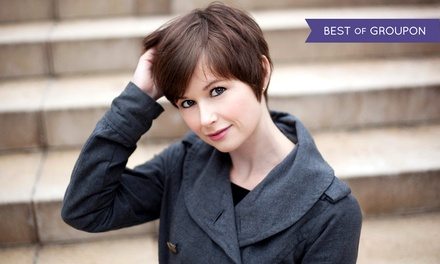 Haircut and Style with Optional Color or Highlights at Holistic Fusion (Up to 58% Off). Four Options Available.