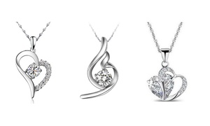 Pendant Shaped Necklaces with Stud Earrings