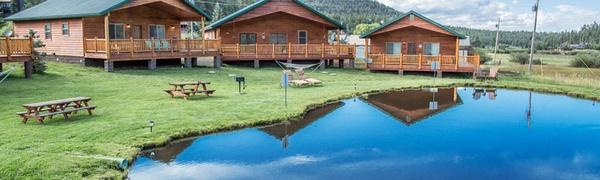 Log-Cabin Resort in Arizona Mountains