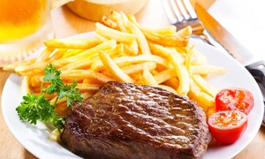 Steer N' Ale: Steakhouse Food and Drinks for Two or Four People or More at Steer N' Ale (Up to 42% Off)