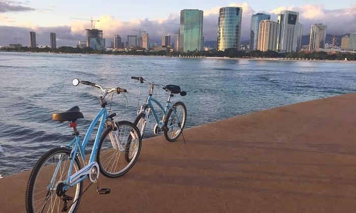 Waikiki Bike Tours - Waikiki Bike Tours: Diamond Head, Park Picnic, or Dolphins and Tea Tour for One or Two from Waikiki Bike Tours (Up to 55% Off)