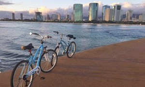 Waikiki Bike Tours: Diamond Head, Park Picnic, or Dolphins and Tea Tour for One or Two from Waikiki Bike Tours (Up to 49% Off)