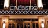 CinéBistro Peninsula Town Center - Hampton: $10 for Two Movie Tickets to CineBistro Peninsula Town Center ($20 Value)