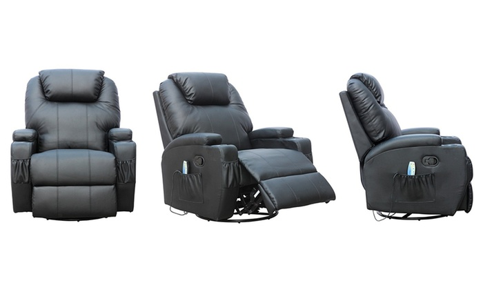Buyer Empire: Luxury Leather Heated Massage Armchair In Black Or Brown For  £199.99 With ...